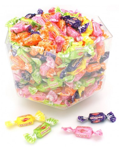 Sugar free sour fruit chews with...