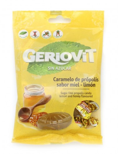 Caramelos Geriovit sin azúcar miel y...